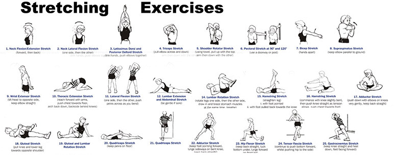 exercices étirement complet