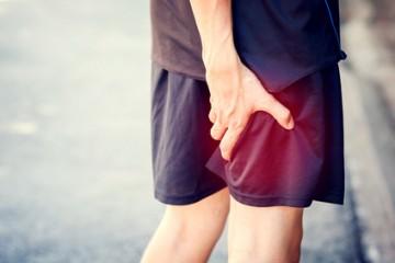Sportif douleur jambe